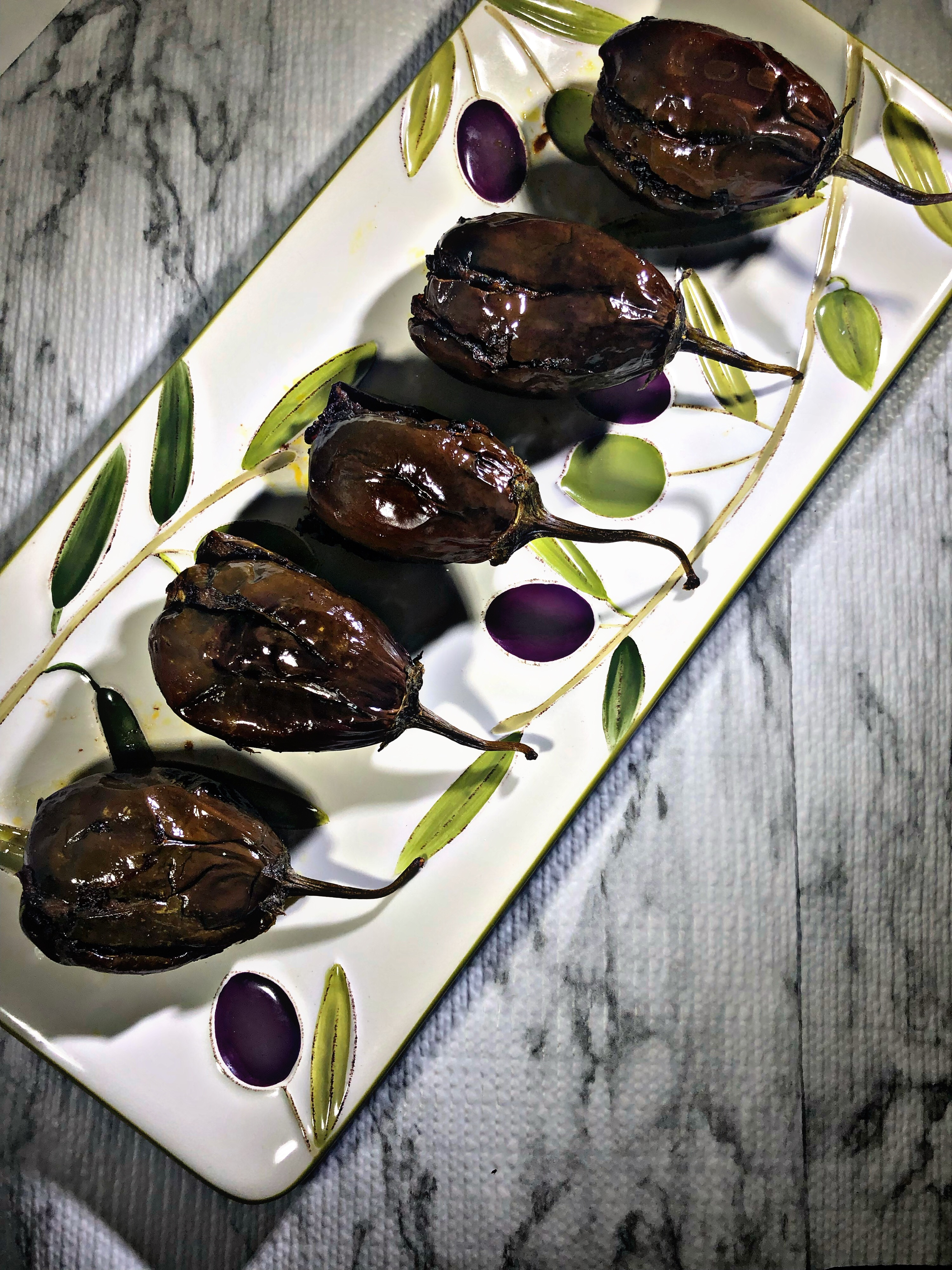 Air Fryer Stuffed Baby Eggplant