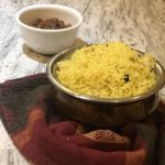 Bengali Holud Pulao (Yellow Pulao) using Instant Pot